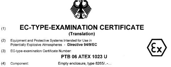 EC-type-examination certificate