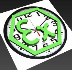 ex and clockface